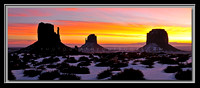 'Mittens Sunrise' - Monument Valley