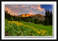 'Devils Castle Sunset' ~ Albion Basin