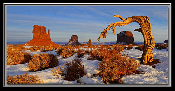 'Crooked Sunset' - Monument Valley