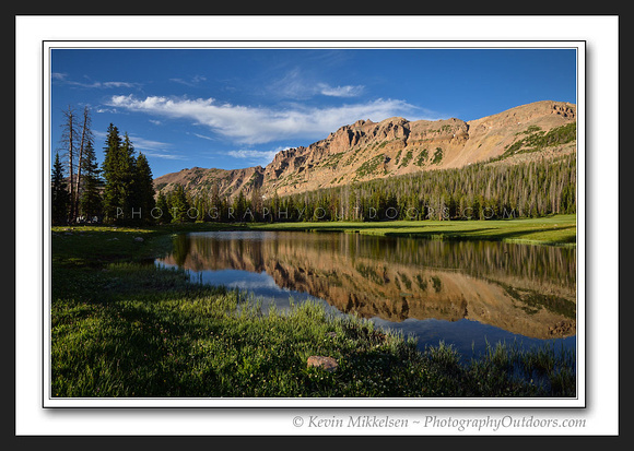 'Meadow Reflections' ~ Hayden Peak/High Uintas