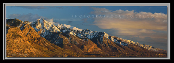 'Sunset on the Wasatch' ~ Wasatch Mountains