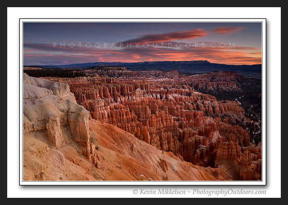 'Red Sky at Dawn' ~ Inspiration Point/Bryce Canyon
