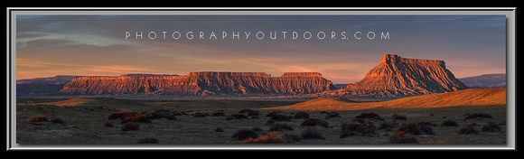 'Mesa's at Sunrise' ~ Factory Butte